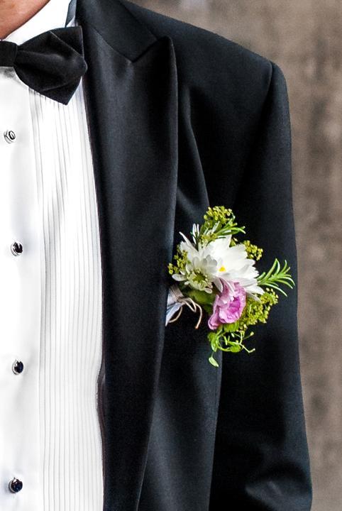 ❤️ Svadobné kytičky pre naše krásne nevestičky 2014 ♥ - Pierko s rozmarínom, foto Peter Tiliščák