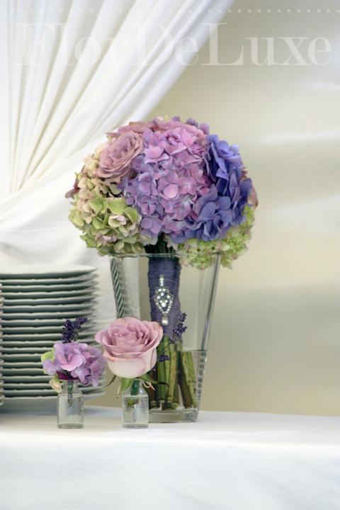 ❤️ Svadobné kytičky pre naše krásne nevestičky 2014 ♥ - Hortenziová kytička a pierka