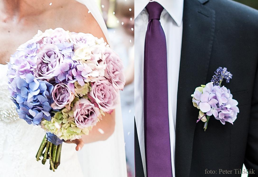 ❤️ Svadobné kytičky pre naše krásne nevestičky 2014 ♥ - Hortenziová kytica a pierko foto Peter Tiliscak