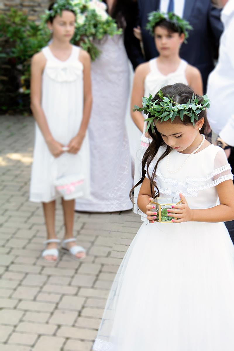 Romantická púdrovo-zlatá greenery svadbička Nelky a Denisa - Obrázok č. 21