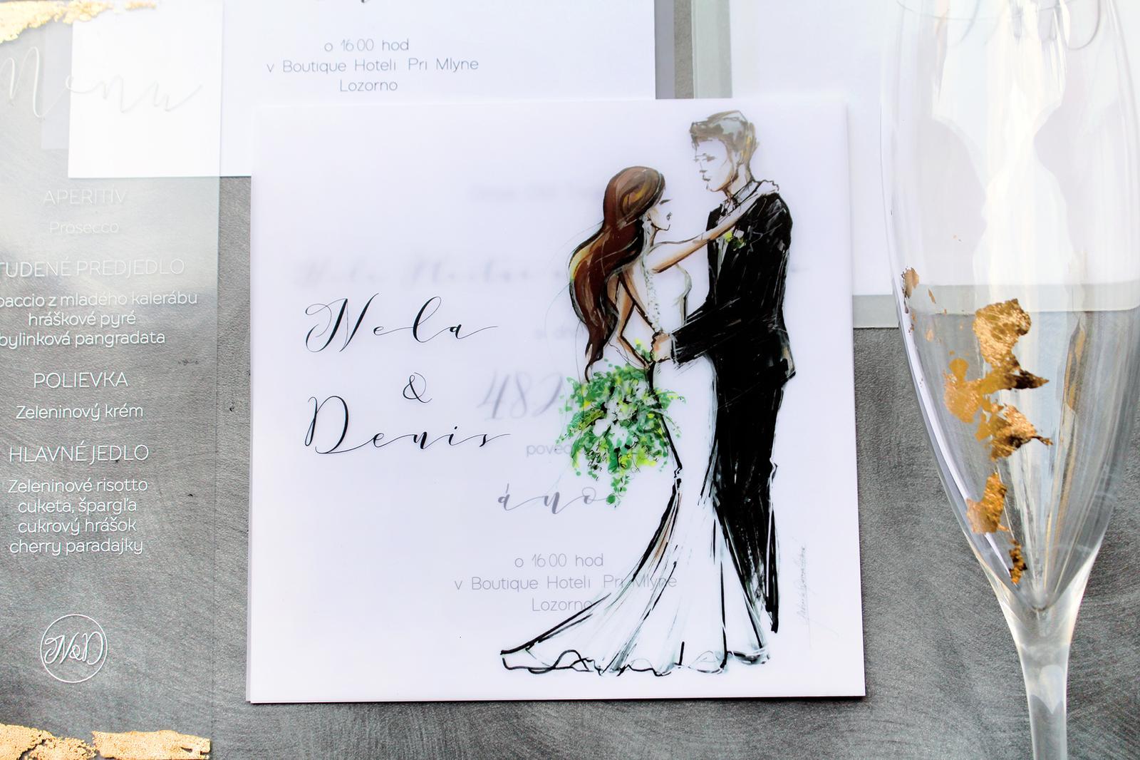 Romantická púdrovo-zlatá greenery svadbička Nelky a Denisa - Obrázok č. 47