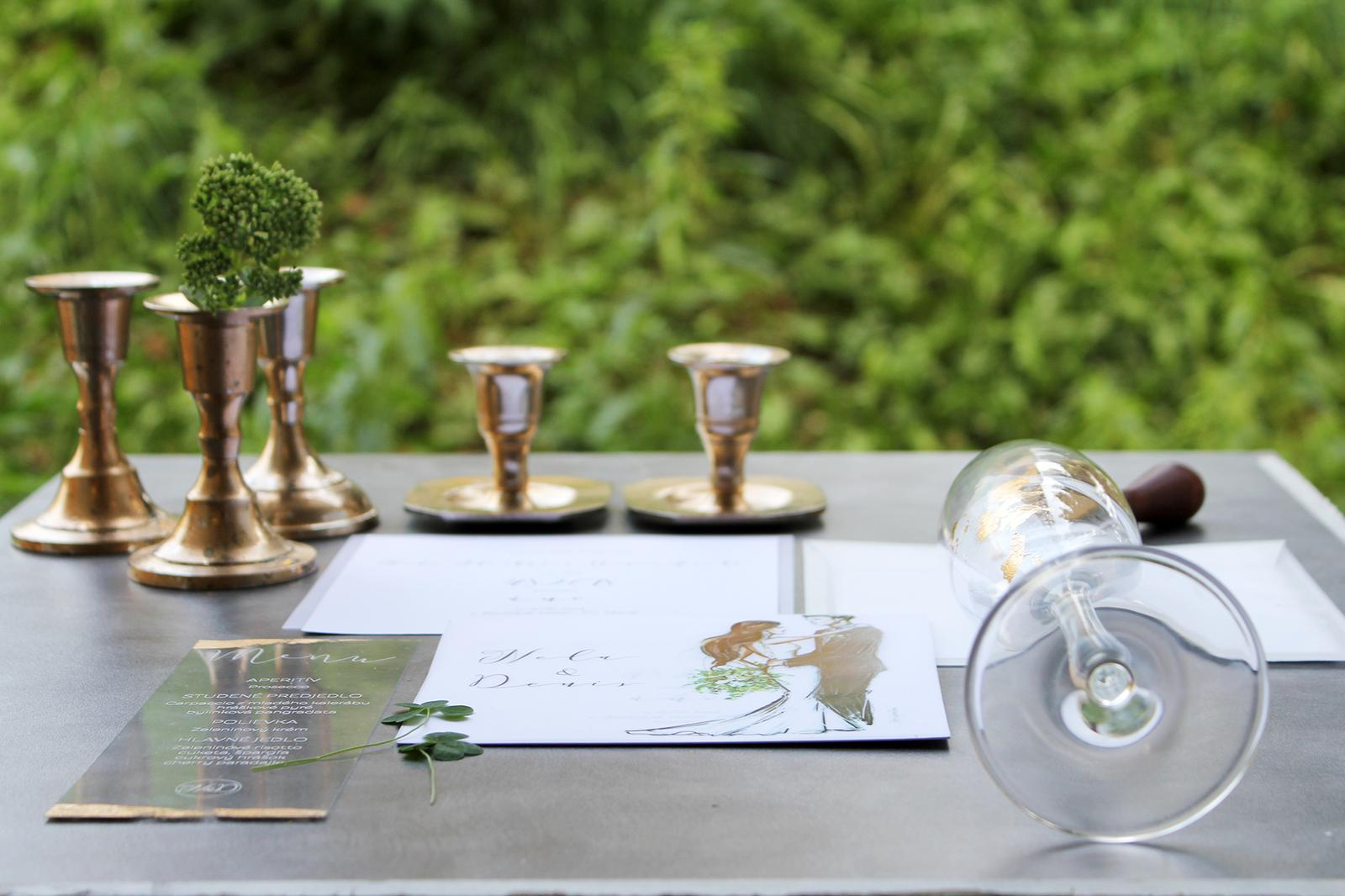 Romantická púdrovo-zlatá greenery svadbička Nelky a Denisa - Obrázok č. 49