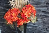 Kytice květiny na stůl do vázy hortenzie,