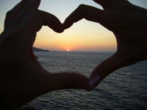 západ slunce na Krétě