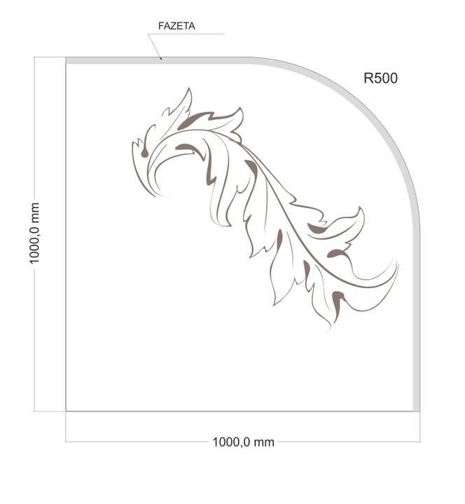 arttech_design - Sklo pod krby 1 čtvrtkruh