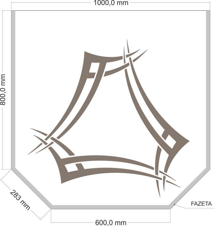 arttech_design - Sklo pod krby 2 zkosený