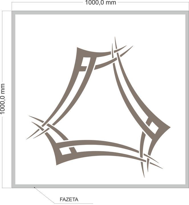 arttech_design - Sklo pod krby 3 čtverec