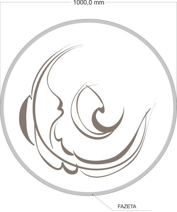 arttech_design - Sklo pod krby 4 kruh