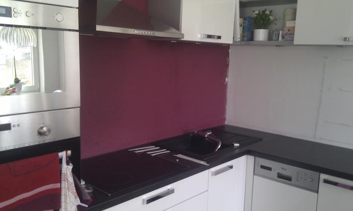 Skleněný obklad kuchyně - Teplice - Kuchyň před montáží skla 1