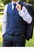 oblekova luxusna vesta vel. 50, s kravatou , 50