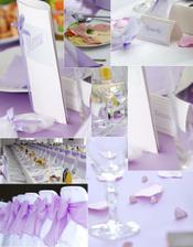 fialovo-biela výzdoba
