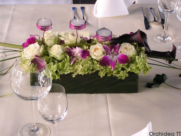 Zuzka & Peťo 18.10.2008 - Na stoloch by sa mi pacili ikebanky, mozno ako tieto...