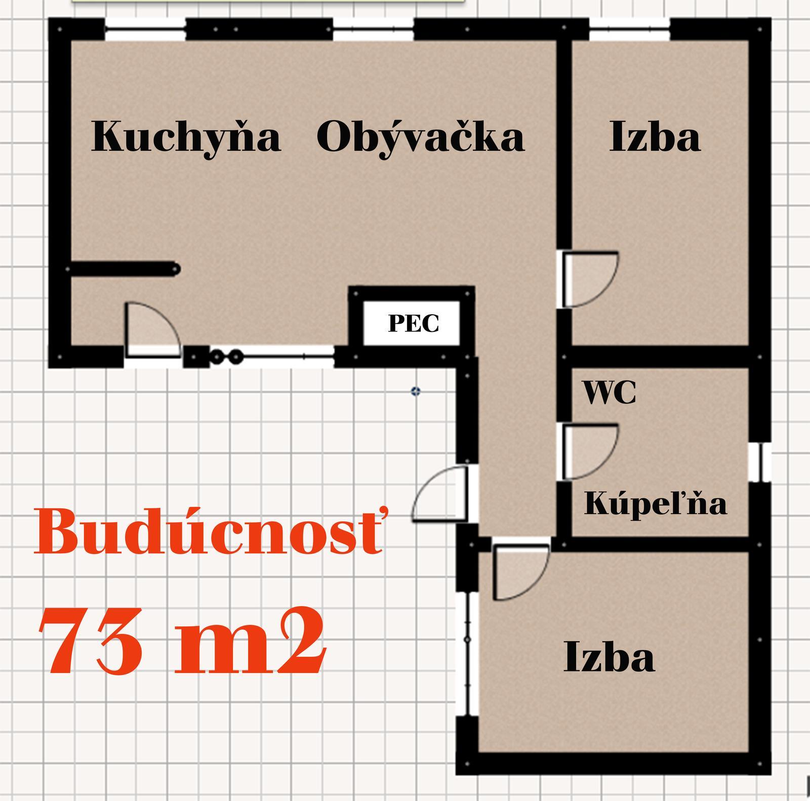 V zelenom dome - Minidomček nebude mať verandu, okná od ulice sa trochu zmenšia a naopak tie do dvora sa zväčšia. Kúpeľňa sa vymení s izbou, komora bude v letnej kuchynke za domom.