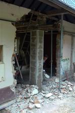 vrchná časť steny až po strop