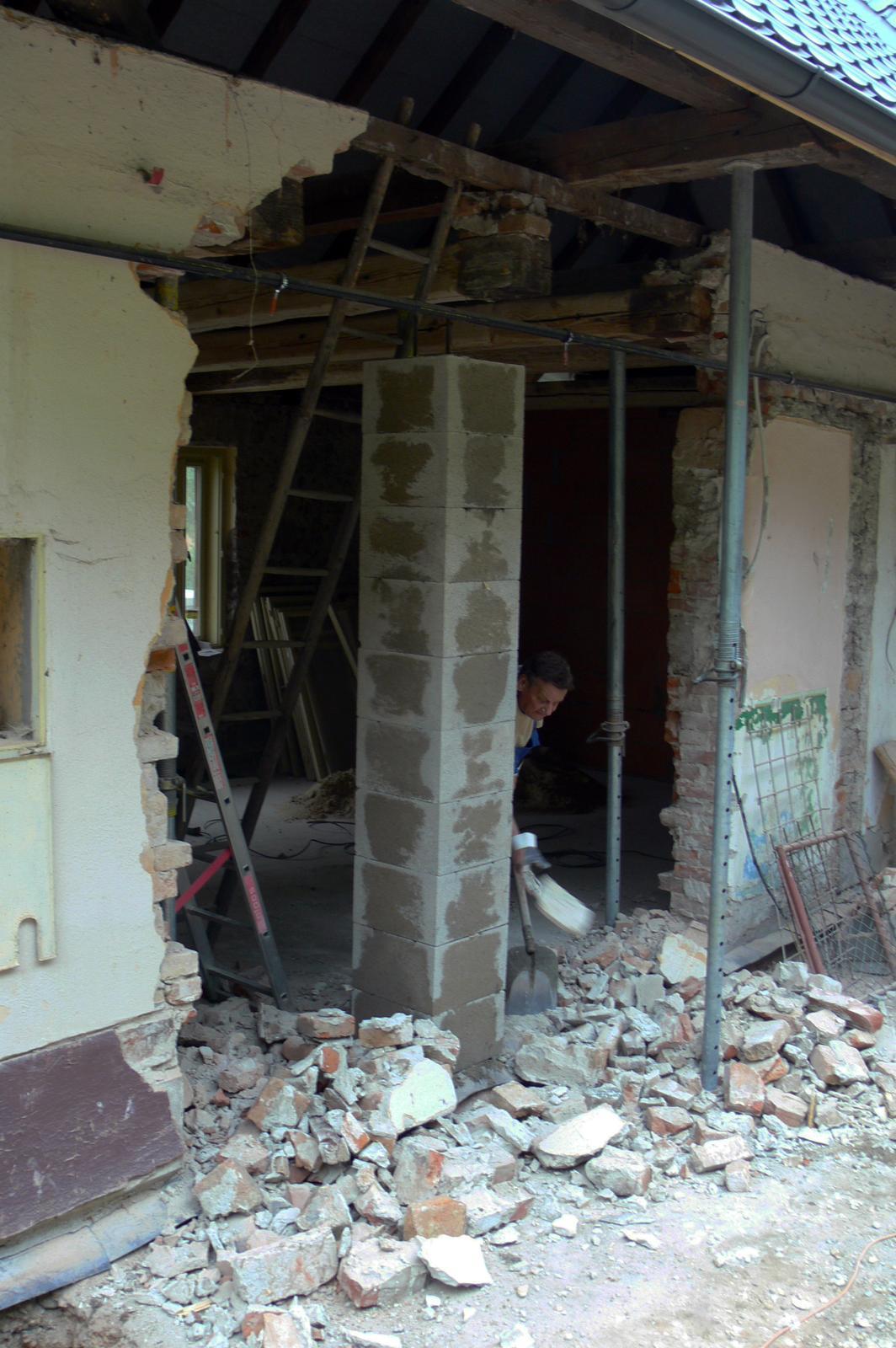 V zelenom dome - vrchná časť steny až po strop