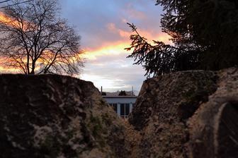 veľký kmeň ostáva, bude tam na pár rokov bunker pre mladú, s výhladom na hrad...vykúka ponad budovu