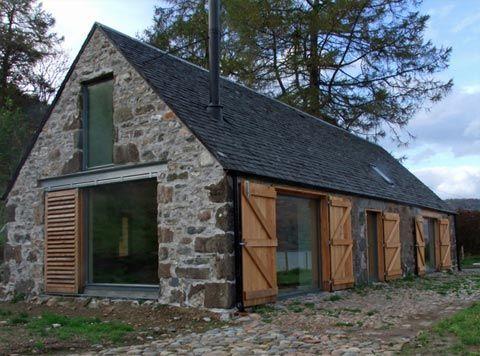 Nové v starom alebo moderné rekonštrukcie - Starý chliev v Škótsku, naštastie aj u nás stojí ešte vela kamenných domov