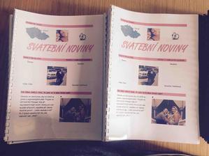 Konečně hotové svatební noviny ..... 65 výtisků po 30 stránkách svázané.... :)