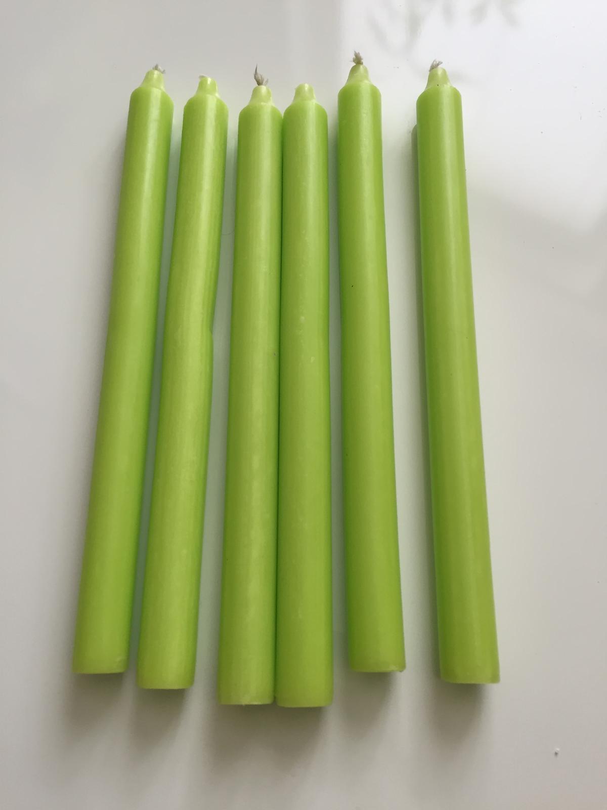 Vysoké svíčky zelené - Obrázek č. 1
