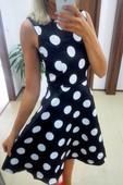 Puntíkaté černobílé šaty, 38