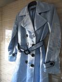 Tyrkysový kabátek s páskem, 34