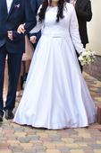Svadobné šaty saténové s čipkou, 40