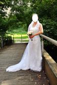 Romantické krajkové svatební šaty, 38