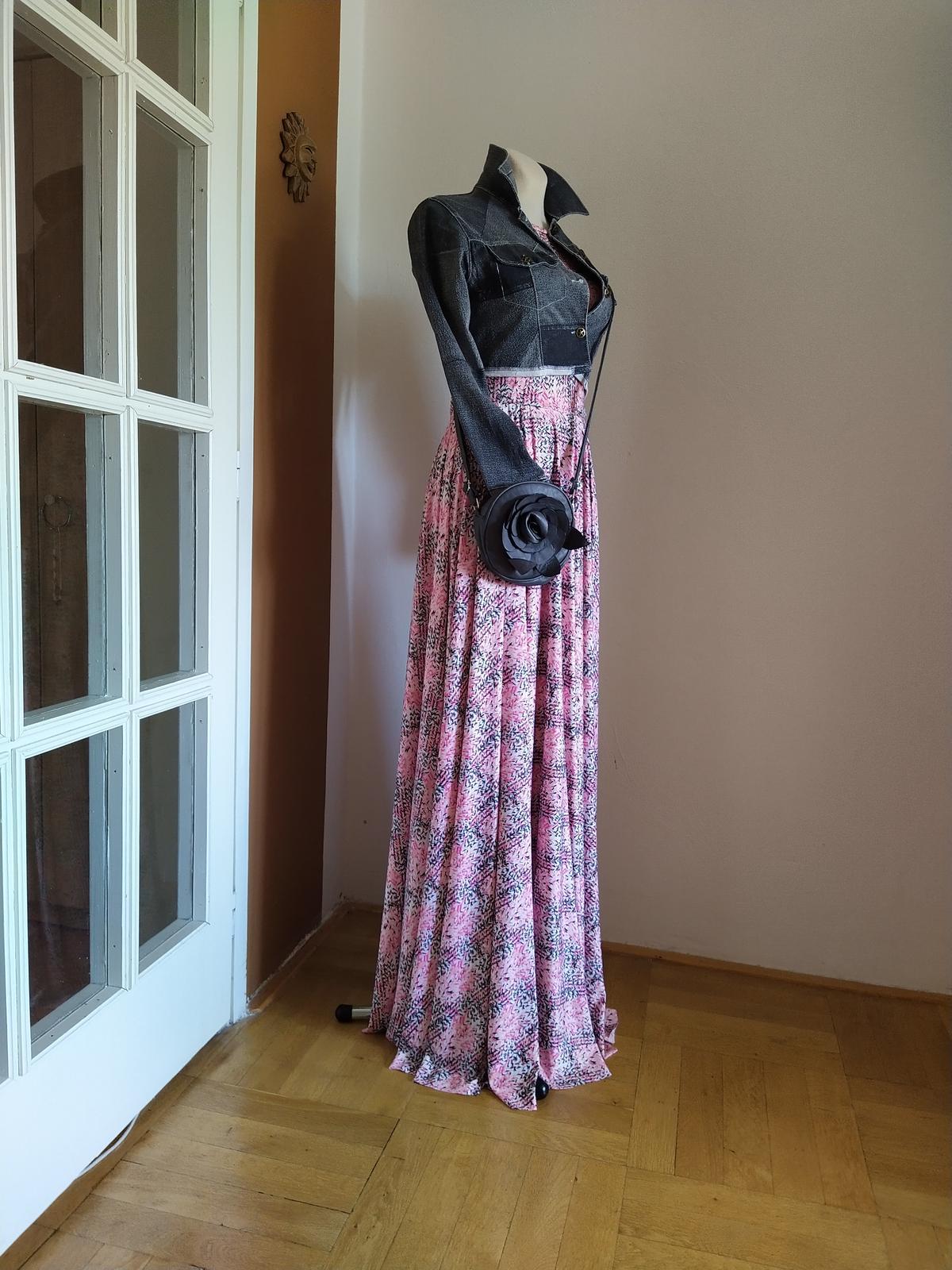 Růžové maxi šaty Nové - Obrázek č. 1
