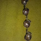 Náramok s riecnymi perlami,