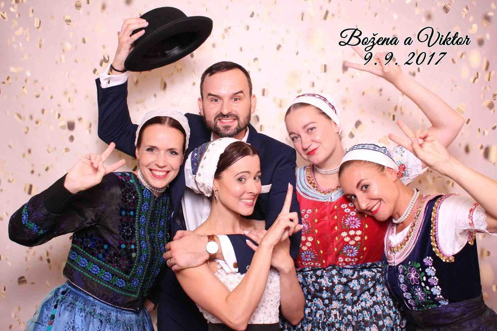 Božena Géčová a Viktor Tóth - Fun Face fotobox