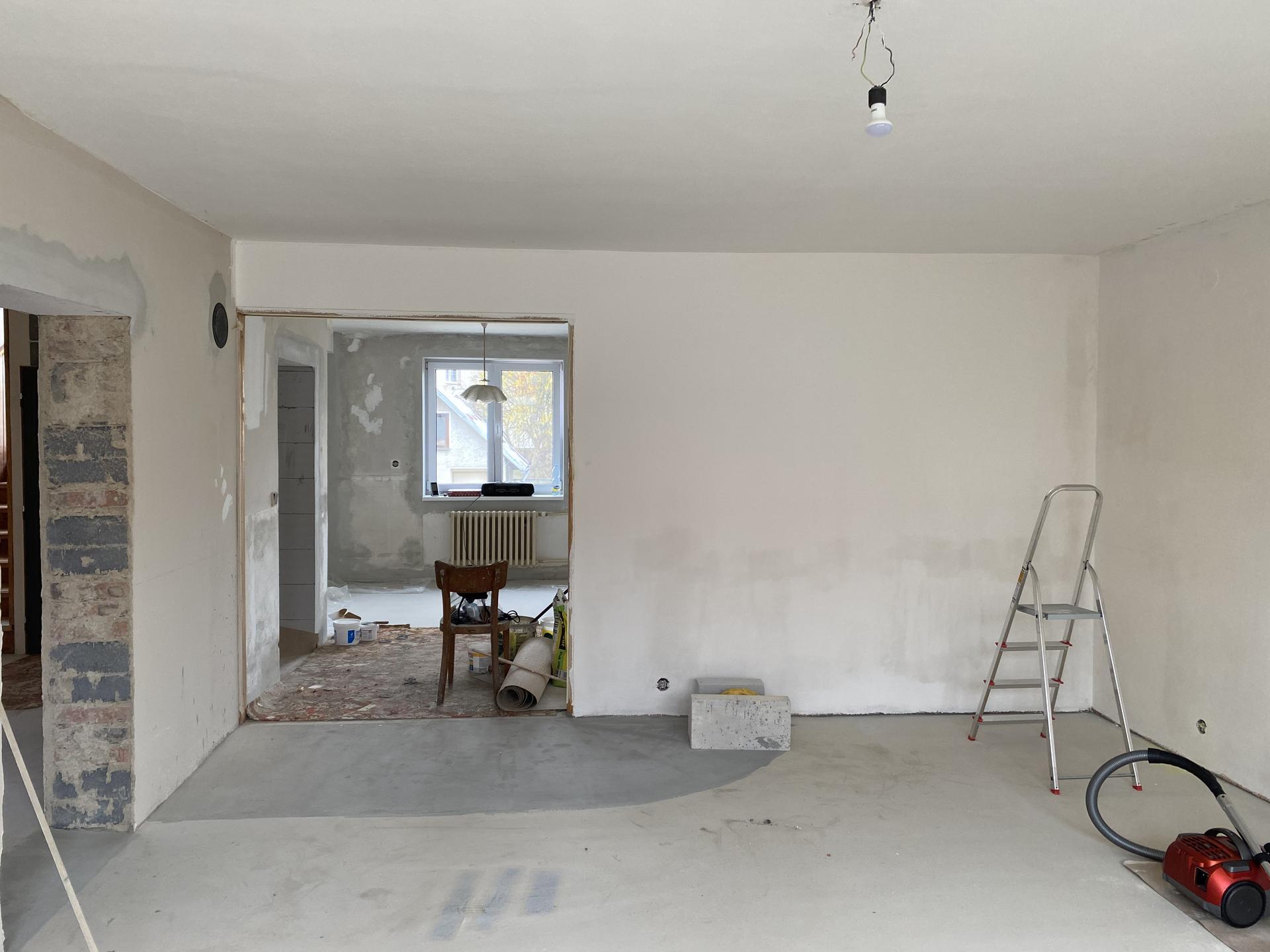 Náš sen bydlení ve vlastním 🏡🍀 - Vylití podlah...