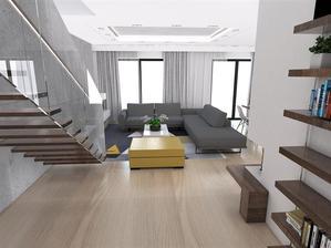 Obývačka - jedáleň - kuchyňa