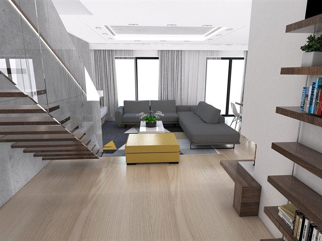 Naša vizualizacia - Obývačka - jedáleň - kuchyňa