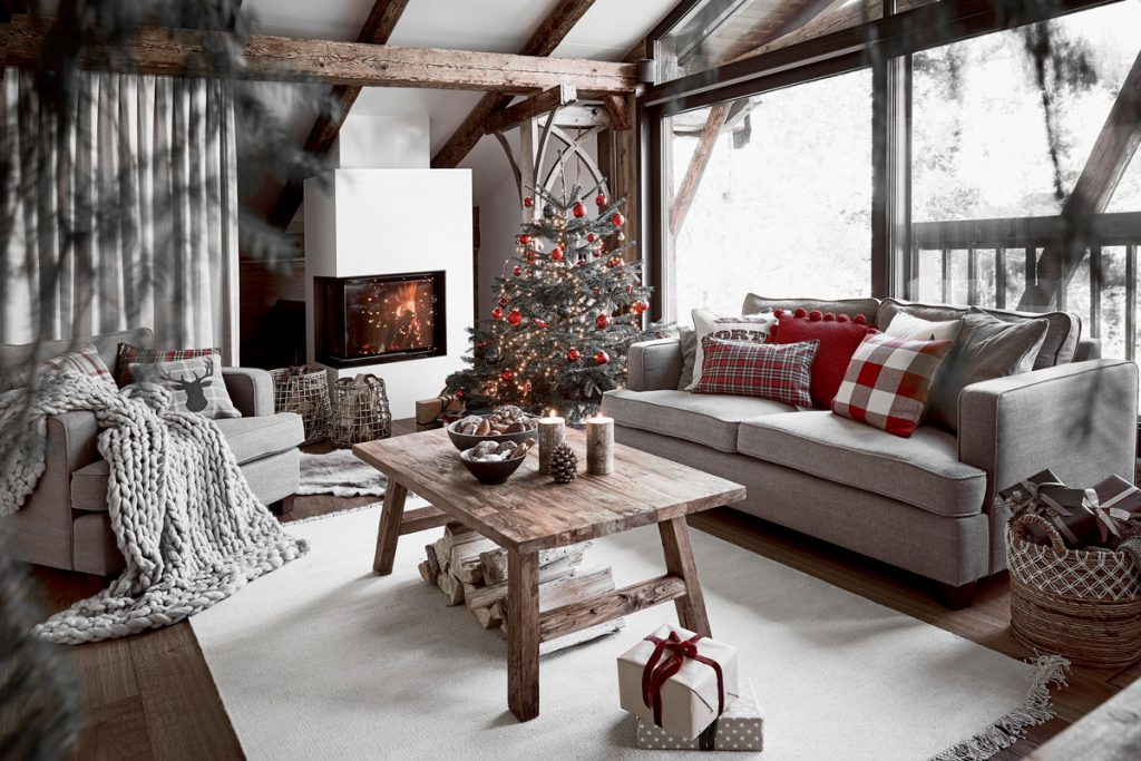 Rozprávkové Vianoce v dome s prvkami zo starej stodoly - Obrázok č. 1