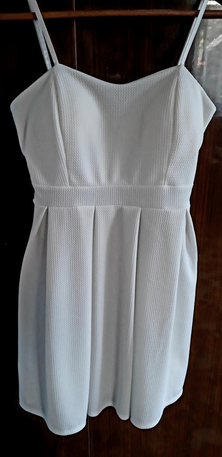 Světlé smetanové šaty vel. xs-s - Obrázek č. 1