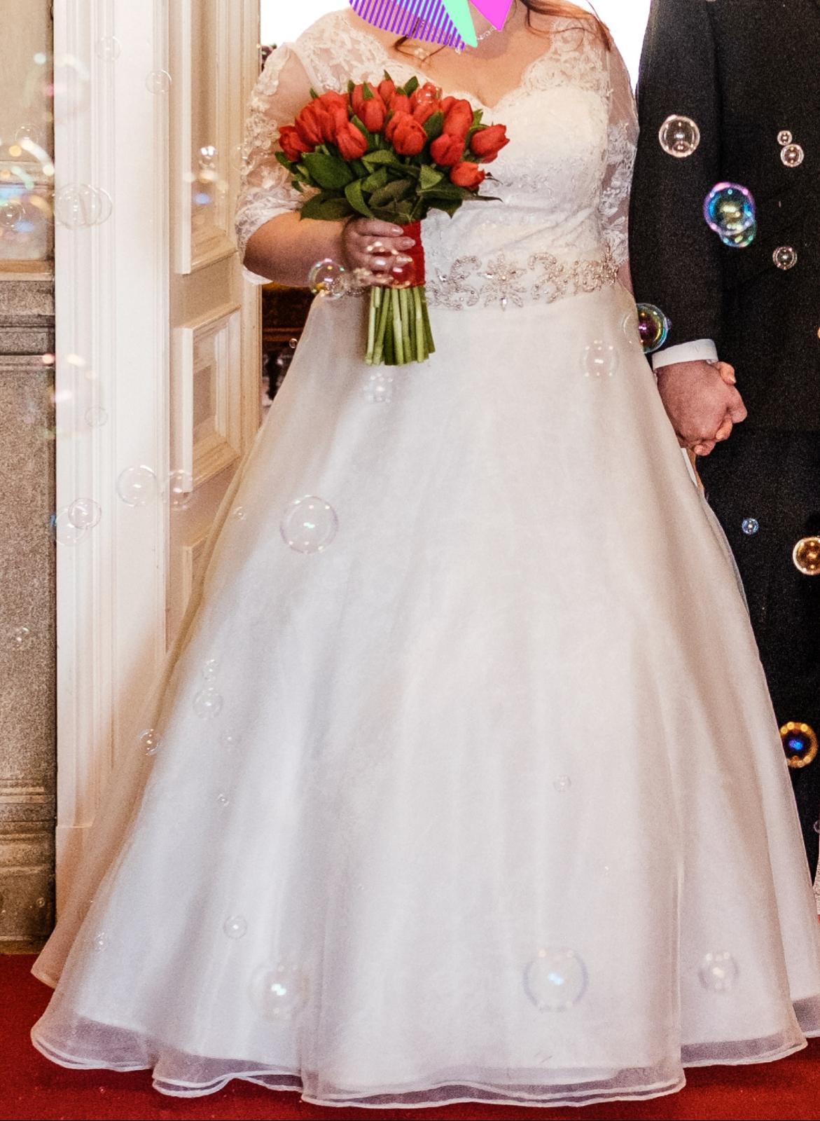 Svatební šaty pro plnoštíhlou nevěstu - Obrázek č. 1