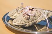 Svatební polštářek na prstýnky,