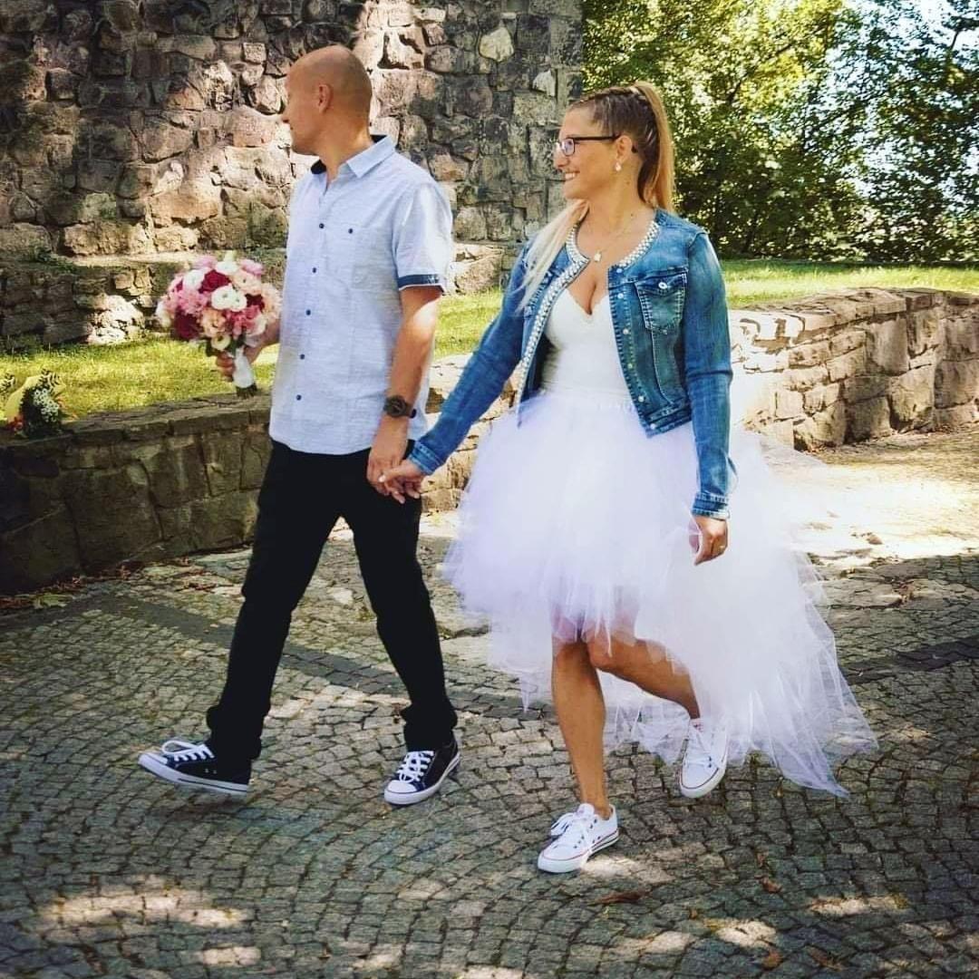 Originální svatební tylová tutu sukně s vlečkou - Obrázek č. 2