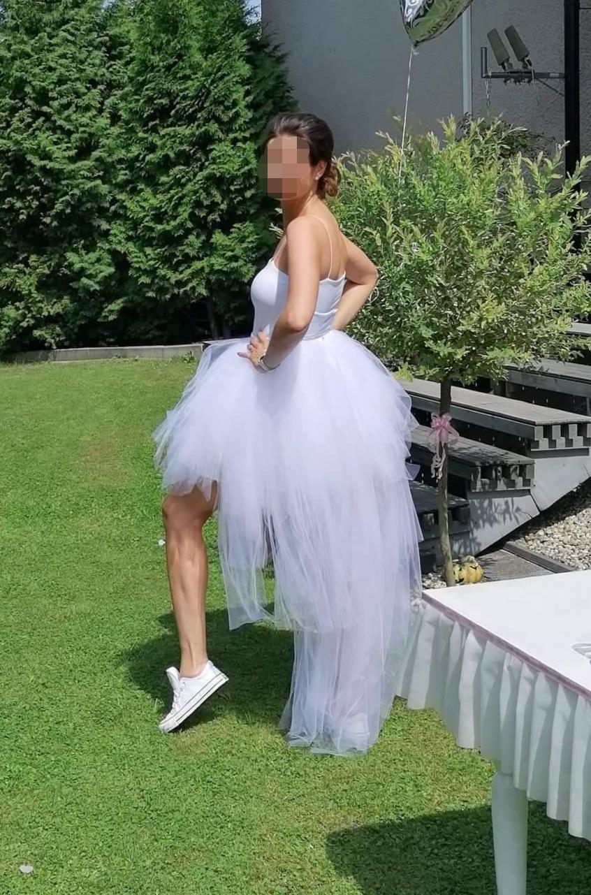 Originální svatební tylová tutu sukně s vlečkou - Obrázek č. 1