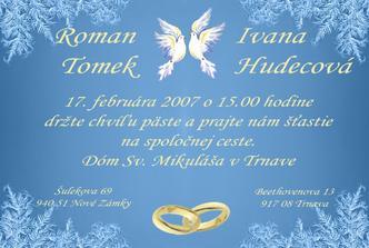Nase svadobne oznamenie.....samovyroba....tlac doma na foto papier :-)