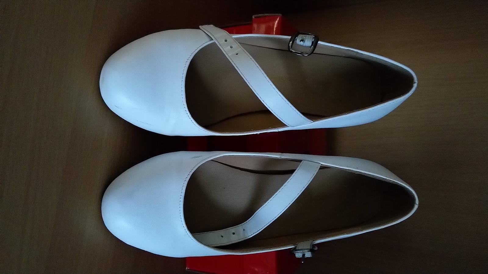 Bílé dámské - dívčí lodičky vel. 33 - Obrázek č. 1