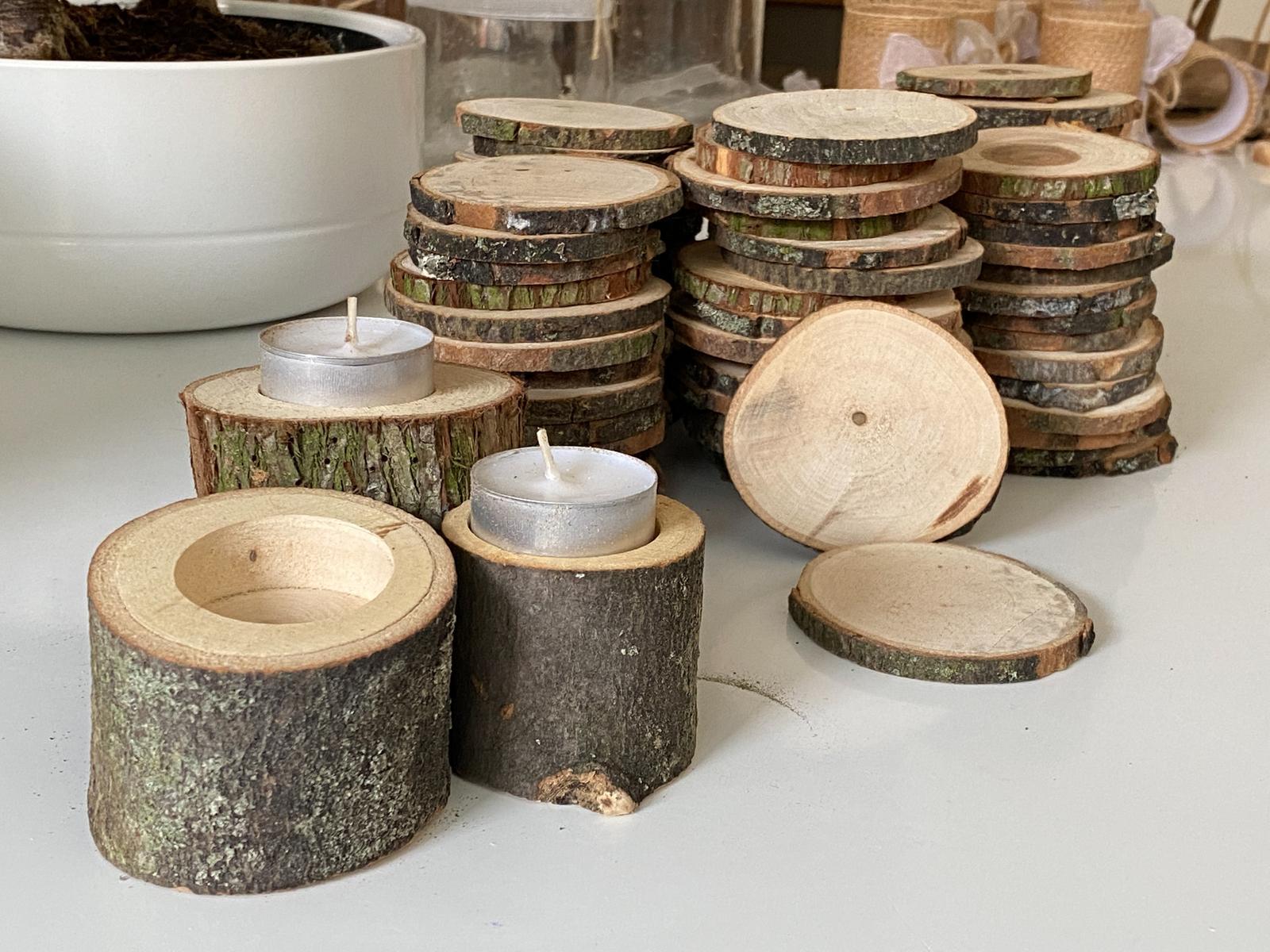 Kulatiny dřevo malé - 89 kusů - Obrázek č. 1