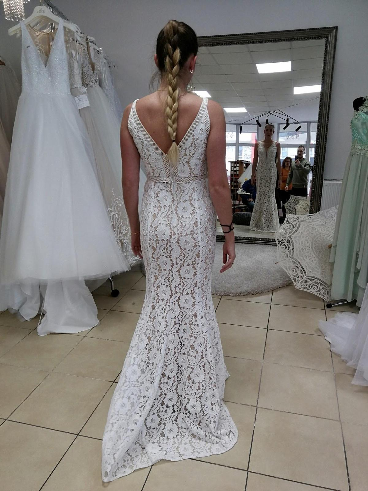 svadobné šaty veľkosť 38 - Obrázok č. 3