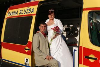 S manželem v práci