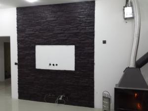 kameň v obývačke dokončený ;-)