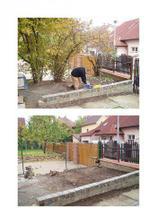 před a po..na jaře tam bude terasa s altánem, zahradním nábytkem a venkovním grilem