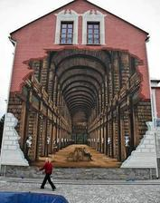Excelentná 3D maľba na dome