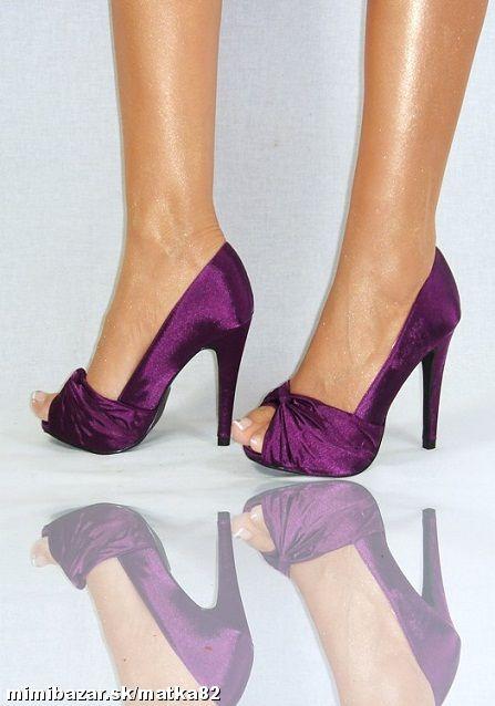 Hledám fialové boty s nízkým podpatkem - Obrázek č. 12