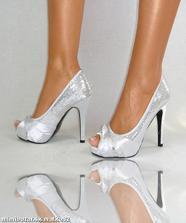 strieborné topánočky