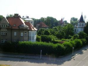 Nádherná část města se zástavbou prvorepublikových vilek